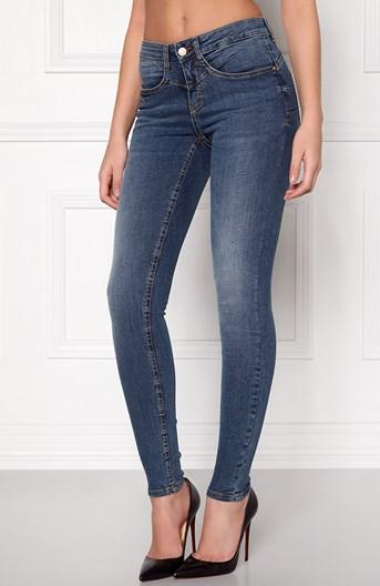 77thFLEA Jeans Miranda Push-up Mellanblå