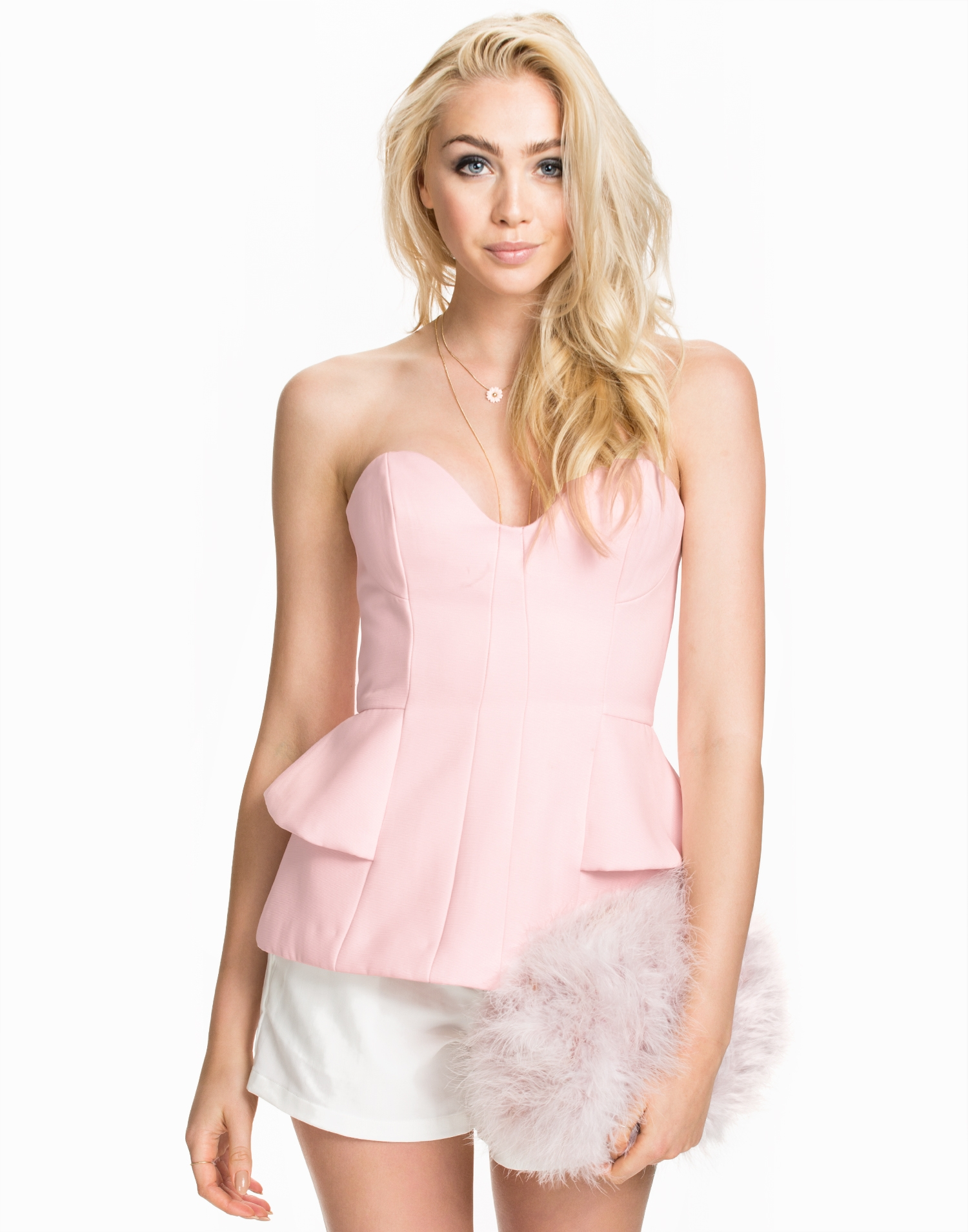 Finders Keepers Take A Shot Bustier Linnen Powder Pink