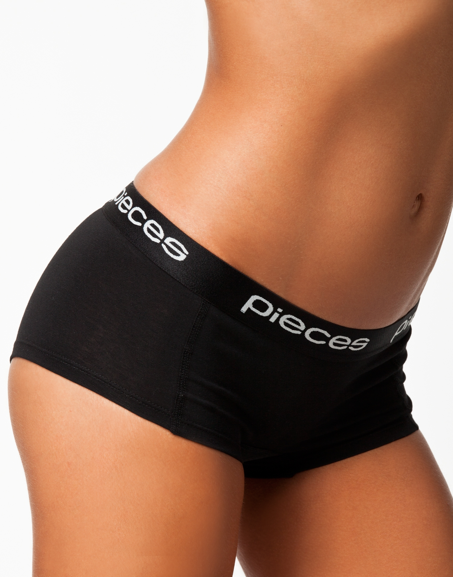Pieces Logo Lady Boxers/Solid Boxers Svart