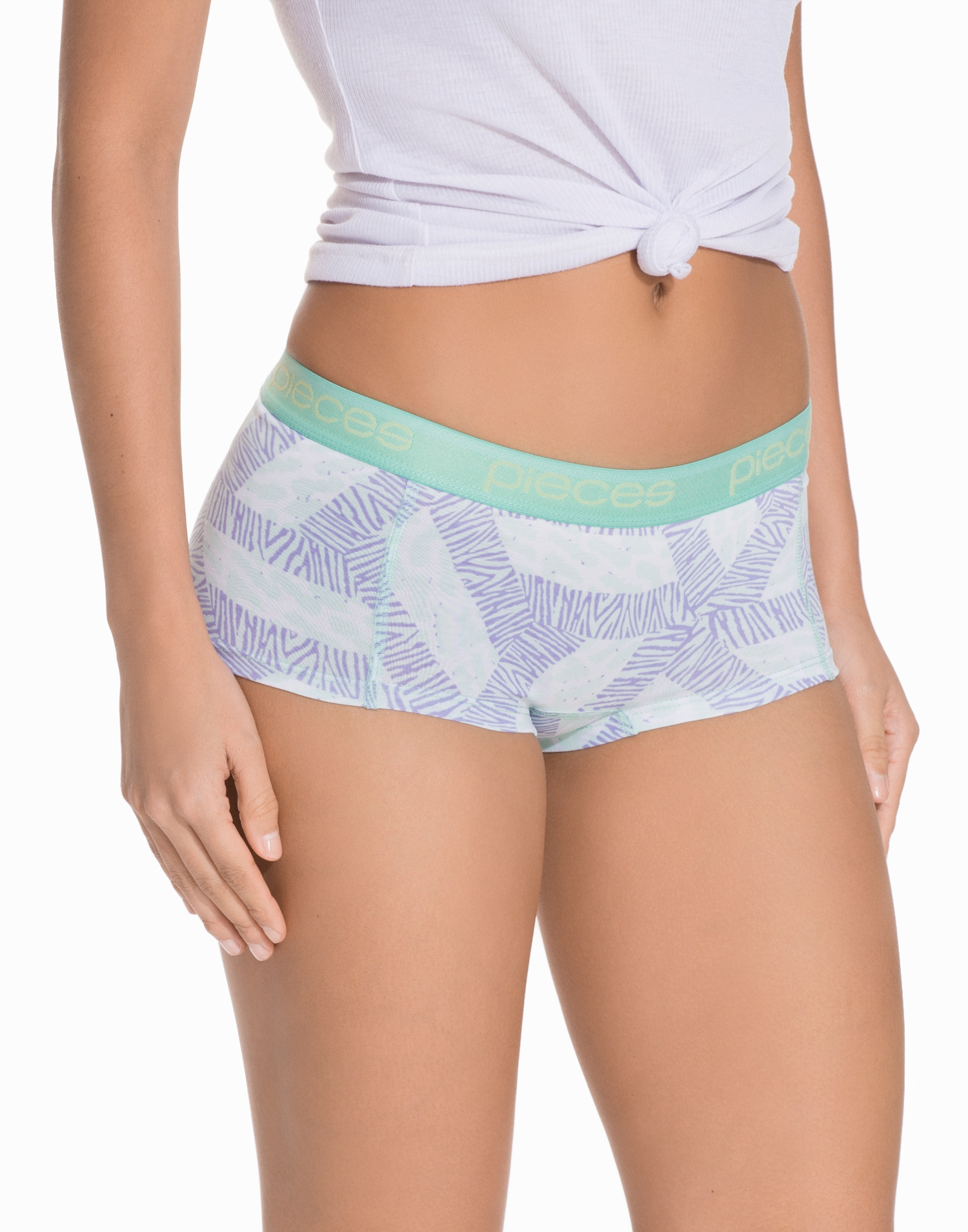Pieces Pclogo Lady Boxers 14-130 Animal 4 Boxers Ljus Rosa