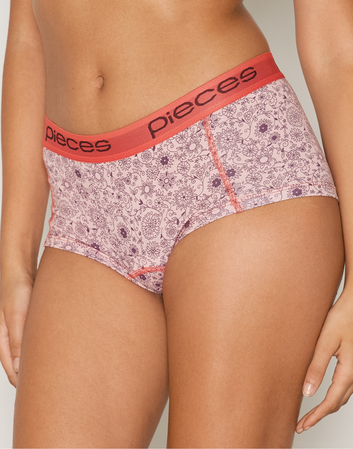 Pieces Pclogo Lady Boxers 14-166 Flowers Boxers Rose